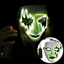 LED Glow Cosplay Horror Ghost Party Costume Face Scary Masque Halloween Mask