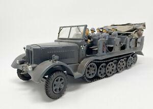 Lineol, Halbkettenfahrzeug, Wehrmacht Modell, Blech Spielzeug mit 1 Fahrerfigur