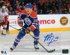 Matt Fraser Edmonton Oilers Signed Autographed Home Action 8x10