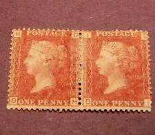 Great Britain Scott# 33 Queen Victoria Pl. 208 1864 Mh Pair C218