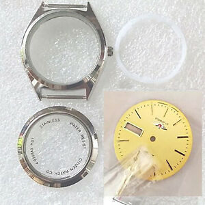Waterproof Steel Watch Case Shell Kit Replacement for 8200 Movement Repair Parts