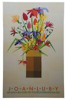 "Joan Luby Original 1981 New York Art Expo Serigraph Poster Botanical Boquet 38"""