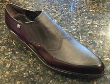 CESARE PACIOTTI US 12 STYLISH BROWN LEATHER LOAFERS ITALIAN DESIGNER MENS SHOES