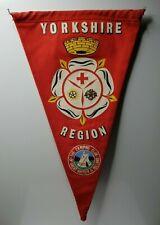 "British camping club  Yorkshire region pennant 12"""