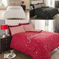 Fabulous Duvet Cover Set & Pillowcase Bed Quilt Reversible Single Double King