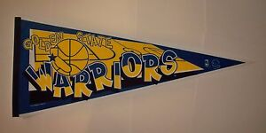 """Vintage Dated 1995 Golden State Warriors Old Logo Full Size 30"""" Pennant"""