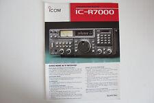Icom-R7000 (sólo Genuino prospecto)... radio _ trader _ Irlanda.