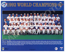 1992 TORONTO BLUE JAYS WORLD SERIES CHAMPIONS 8X10 TEAM PHOTO