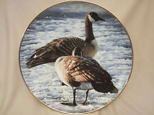 Freeze Up collector plate R.S. Parker Waterfowl Canada Geese goose Bird