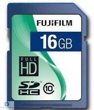 Fuji 16 Gb Tarjeta De Memoria Sdhc Clase 10 Sd Full Hd Fujifilm Para Cámara Digital del Reino Unido