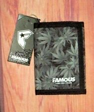 MENS FAMOUS STARS AND STRAPS WEED TRIFOLD CLOSURE WALLET