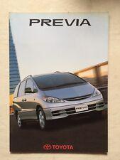 Depliant Toyota Previa In Italiano Giugno 2001
