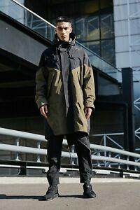New $450 ADIDAS Men's Small  PT3 Parka GORE-TEX Jacket ED5680 Olive/Black TNF
