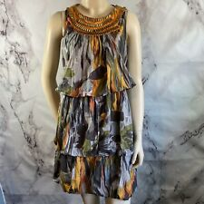 Anthropologie KAS NewYork Womens Sleeveless Mini Dress autumn Colors Sz Xs