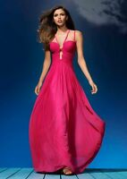 *SALE* BNWT Fuschia Forever Unique Leia Cut Out Grecian Maxi Dress UK10 RRP £275
