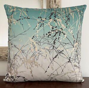 "Harlequin Clarissa Hulse Meadow Grass Fabric Cushion Cover Ocean / Teal 17x17"""