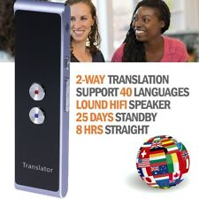 Two Way Easy Trans Smart 40 Languages Translator Device Electronic Pocket Voice
