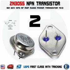 2pcs 2N3055 NPN AF Amp Audio Power Transistor 15A/60V Bipolar
