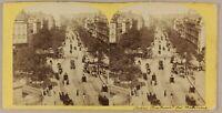 Francia Parigi Boulevards Animato Foto Stereo P8L2n2 Vintage Albumina Ca 1865