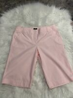 J. Crew City Fit Pink And White Pinstripe Bermuda Shorts Size 8
