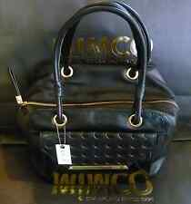 Mimco Afriquette Bucket Bag in Black Leather With Keyring