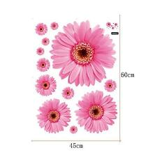 Adorable 3D Pink Daisy Flower Bedroom Decal Wall Sticker Vogue Sweet Vinyl Art