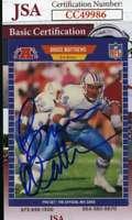 Bruce Mathews 1989 Pro Set Jsa Coa Hand Signed Authentic Autograph