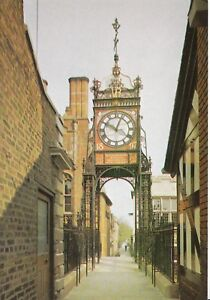 Cheshire Postcard - The Clock on Eastgate - Chester - Ref AB3007