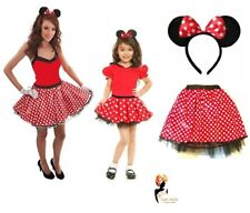 RED BOW MOUSE TUTU COSTUME Kids Teens Halloween Fancy Dress Accessory Lot