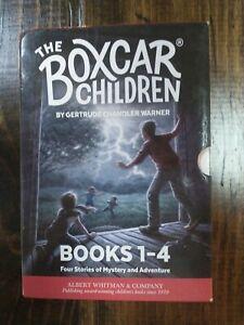 THE BOXCAR CHILDREN # 1-4 BOOK LOT OF 5 CHAPTER BOOKS GERTRUDE CHANDLER WARNER