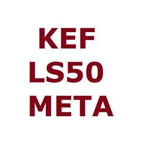 KEF LS50 Meta Pair of Bookshelf Hi-Fi Passive Speakers Uni-Q 12th Gen with MAT