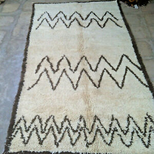 Moroccan Beni Ouarain  Ourain tribal rug 285 x 158 cm