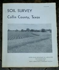 SOIL SURVEY Collin County Texas 1969 US Department Of Agriculture w/35 Maps