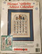 Dimensions Blessed Nativity Advent Calendar Cross Stitch #8416 - Opened Kit