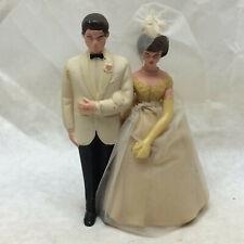 Vintage Bride and Groom Wedding Cake Topper Plastic