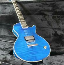 Stock LP Custom Electric Guitar Just 1 Humbucker Pickups 1V Control Flamed Maple