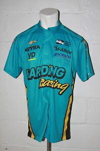 EUC Impact Racing Indy Car Gabby Chaves Harding Racing Pit Crew Jersey Shirt L