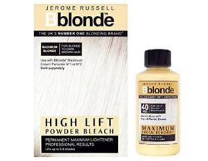 DUO Jerome Russell Bblonde High Lift POWDER Bleach + Cream Peroxide 40v12%