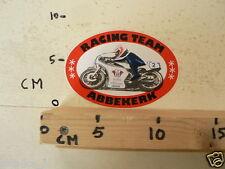 STICKER,DECAL RACING TEAM ABBEKERK WIBA REKLAME NO 2 WEGRACE A