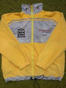 Vintage Seat Sport Deutschland Racing Team Fleece Jacket Castrol Yellow IEV
