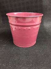 "New Dover M502Bw Burgandy Small Metal Flower Misc. Tub Can Pail 6"" X 5"""