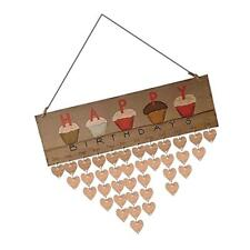 Happy Birthdays Cupcake Calendar Board Birthday Reminder DIY Craft Wood Gift