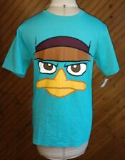 Disney Phineas And Ferb Perry The Platypus T-Shirt Adult Size S Teal Green New