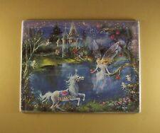 Dream Castles CREATE Plate #5 Mimi Jobe Fairies Fairy Unicorn MIB + COA Castle
