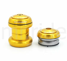 "mr-ride Token Headset  1-1/8"" 34mm tube,Threadless/Integrated (w/ top cap) Gold"
