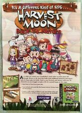 Harvest Moon Poster Ad Print Natsume Playstation