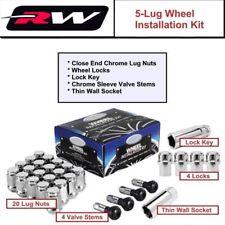 (20) Chrome Lug Nuts M12x1.5 Bulge Conical Seat C1207 fit Chevy Corvette 1984-19