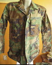 Us Army Woodland Camouflage Coat Mens Medium Long W/Patches