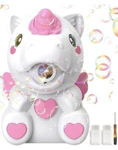 Unicorn Bubble Machine Bubble Blower 1000+ Bubbles Per Minute Battery Operating