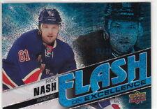 15-16 Upper Deck Overtime Flash of Excellence Blue #2 Rick Nash Rangers 1/25